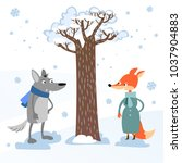cartoon forest animal... | Shutterstock .eps vector #1037904883