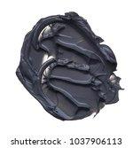 black smear of mud mask for... | Shutterstock . vector #1037906113