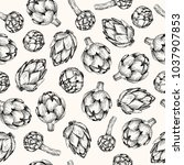 vector seamless pattern. pen... | Shutterstock .eps vector #1037907853