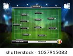 football or soccer playing... | Shutterstock .eps vector #1037915083