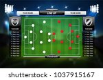 football or soccer playing... | Shutterstock .eps vector #1037915167