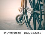 close up view of  wheelchair... | Shutterstock . vector #1037932363