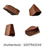 close up of chocolate pieces... | Shutterstock . vector #1037963143