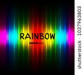 rainbow striped color lights...   Shutterstock .eps vector #1037963803