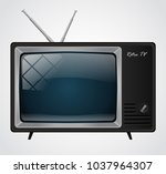 icon of the good old retro tv... | Shutterstock .eps vector #1037964307