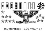 set of american military army... | Shutterstock .eps vector #1037967487