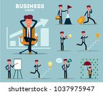 business concept. businessman.... | Shutterstock .eps vector #1037975947