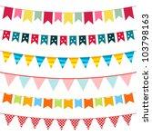 bunting and garland set  jpg... | Shutterstock . vector #103798163