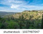 scenic view of ein karem   an...   Shutterstock . vector #1037987047