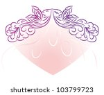 abstract love frame with... | Shutterstock .eps vector #103799723