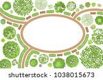 vector illustration. landscape... | Shutterstock .eps vector #1038015673