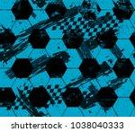 abstract seamless football...   Shutterstock .eps vector #1038040333