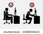 position  stick figure | Shutterstock .eps vector #1038044623