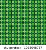 festive irish tartan diamond...   Shutterstock .eps vector #1038048787