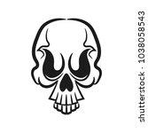 monochrome illustration of... | Shutterstock .eps vector #1038058543