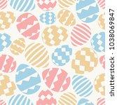 easter eggs seamless pattern... | Shutterstock .eps vector #1038069847