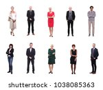 group of elder people | Shutterstock . vector #1038085363