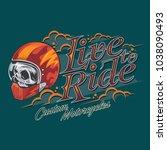 live to ride vector | Shutterstock .eps vector #1038090493