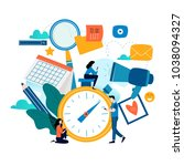 time management  planning... | Shutterstock .eps vector #1038094327
