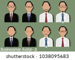 businessman avatar with...   Shutterstock .eps vector #1038095683