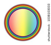 rainbow circle on white...   Shutterstock .eps vector #1038103033