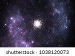 globular cluster  spherical... | Shutterstock . vector #1038120073