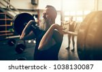 fit mature man in sportswear... | Shutterstock . vector #1038130087