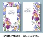 vector vintage botanical... | Shutterstock .eps vector #1038131953