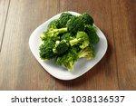 healthy green organic raw... | Shutterstock . vector #1038136537