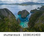 pier in coron  palawan ...   Shutterstock . vector #1038141403