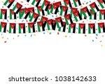 jordan flag garland white... | Shutterstock .eps vector #1038142633