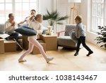 excited active children having...   Shutterstock . vector #1038143467