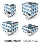 Four Office Buildings Vector...