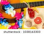 hawaiian party concept ... | Shutterstock . vector #1038163303