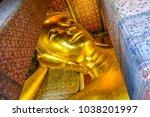 tourism buddha reclining the... | Shutterstock . vector #1038201997