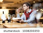 young man doing his work. he... | Shutterstock . vector #1038203353