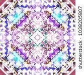 tribal seamless pattern. hand... | Shutterstock . vector #1038205807