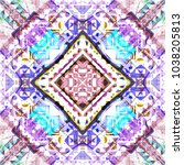tribal seamless pattern. hand... | Shutterstock . vector #1038205813
