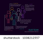vector infographic our team... | Shutterstock .eps vector #1038212557