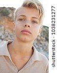 portrait of beautiful teenager... | Shutterstock . vector #1038231277