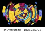 abstract colorful composition... | Shutterstock . vector #1038236773
