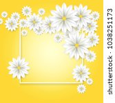 floral background. white paper... | Shutterstock .eps vector #1038251173