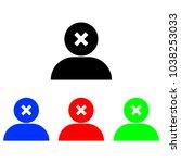 delete user icon | Shutterstock .eps vector #1038253033