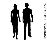 vector silhouettes of man and... | Shutterstock .eps vector #1038253723