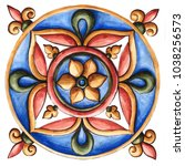 design for ceramic tiles ... | Shutterstock . vector #1038256573