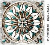 design for ceramic tiles ... | Shutterstock . vector #1038256657