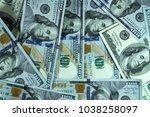 american currency texture | Shutterstock . vector #1038258097
