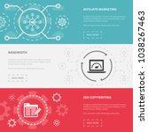 online business 3 horizontal... | Shutterstock .eps vector #1038267463