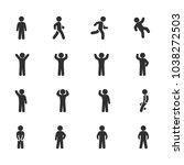 vector image set of posture... | Shutterstock .eps vector #1038272503