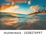 sea wave close up  low angle... | Shutterstock . vector #1038276997
